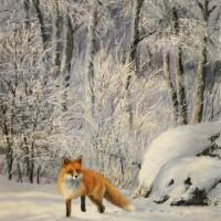 Vinterräv 54x73 cm