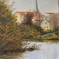 Från Färgebron Oljemålning