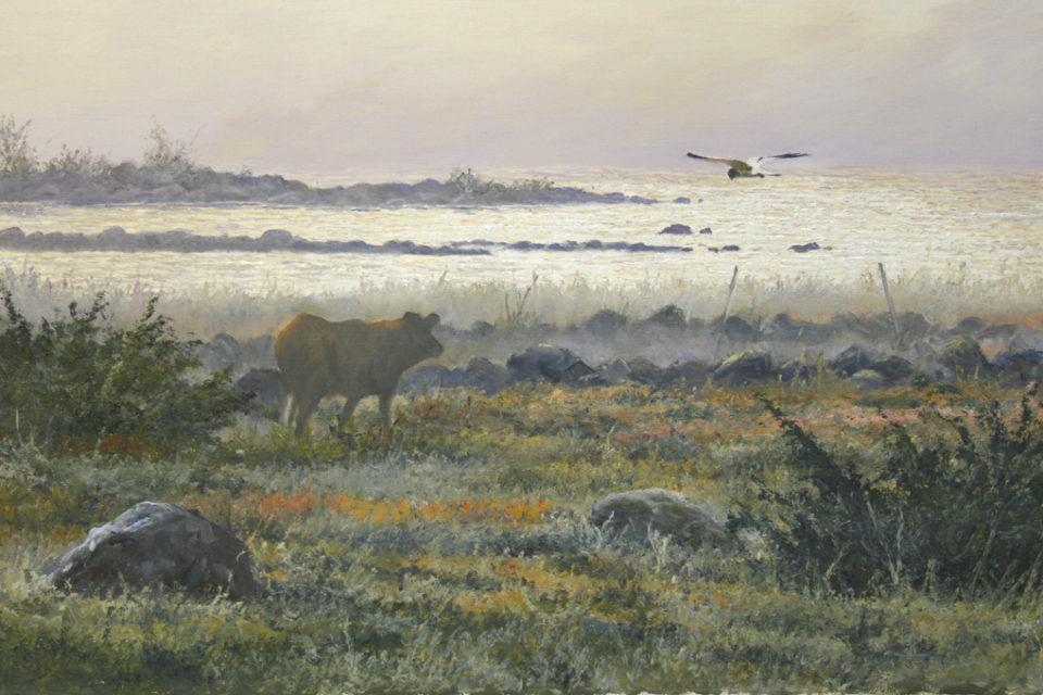 Höstmorgon, oljemålning